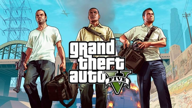 Trevor, Franklin, and Michael, GTAV's three main characters