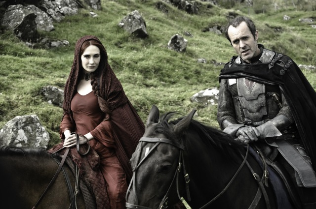 Stannis Baratheon and the Red Queen Melisandre