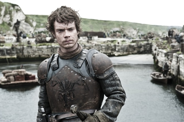 Theon Greyjoy of the Iron Islands, where the Drowned God is chiefly worshipped